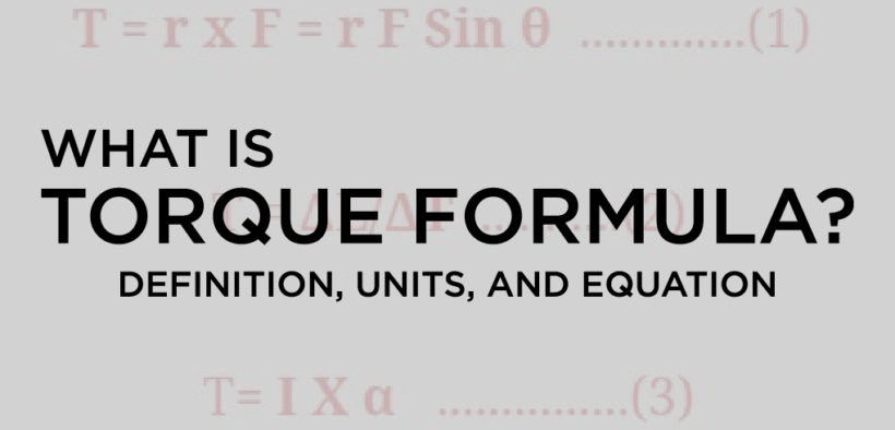 what is Torque Formula